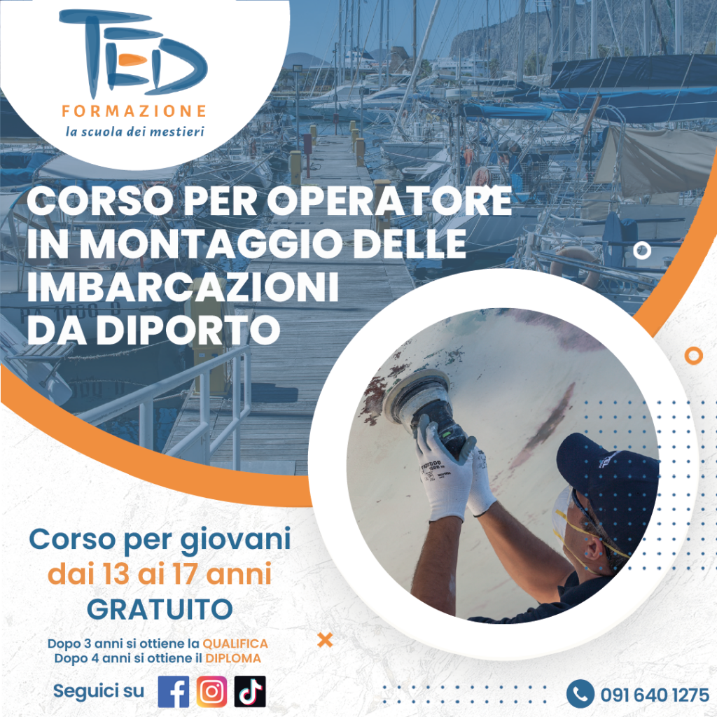 Ted Formazione professionale corso per diventare operatore delle imbarcazioni da diporto