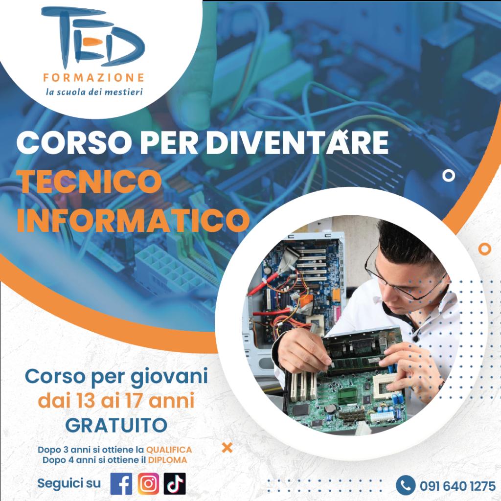 Ted Formazione professionale corso per diventare tecnico informatico