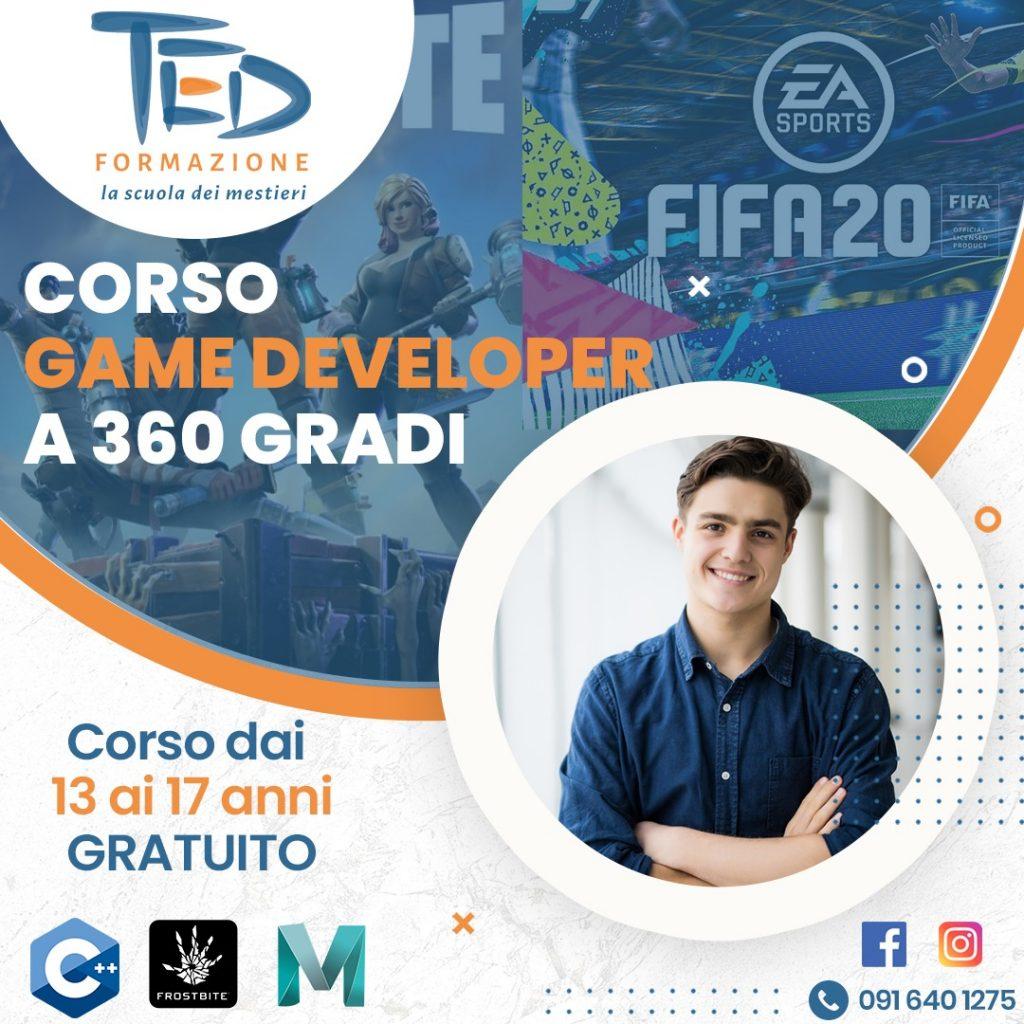 corso per game developer, corso di formazione